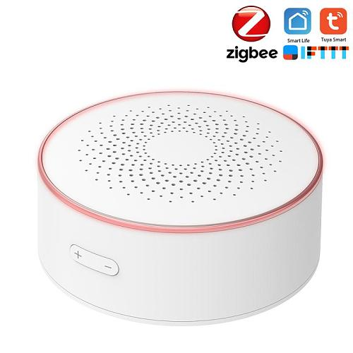 Tuya Smart Zigbee Temperature Humidity Sensor Built-in Siren Alarm Sensor Work With Zigbee Gateway Hub Home Automation
