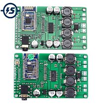 TWS Wireless Bluetooth 5.0 Power Amplifier Board 2x15W/10W AUX Audio Support Change Name and Password DC 12V with Call Function