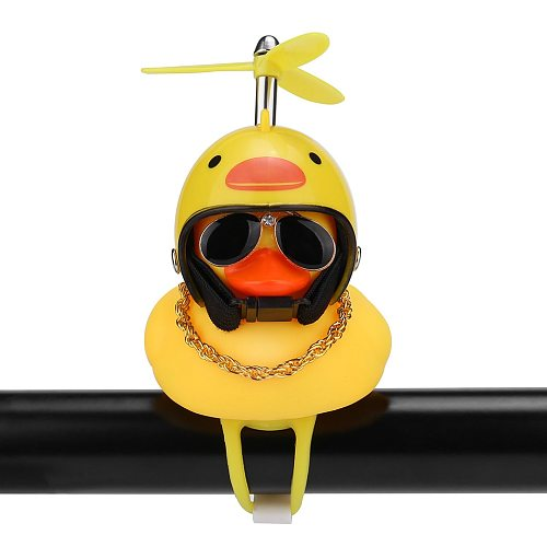 Bicycle Light Bike Horn Bell Duck Front Lights Tail Handlebar Head Lamp Cute Flash Kids Child Air Cycling Rubber Warning Siren