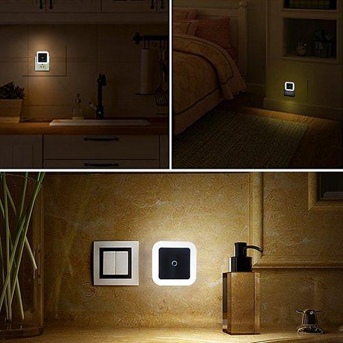PATIMATE Wireless LED Night Light Sensor Lights EU US Plug Night Lamp For Bedroom Decoration Corridor Lamp Baby Night Light