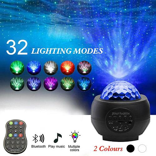 Starry Night Light Projector Sound Sensing Projection Light Built-in Speaker stars for ceiling Rechargeable with Remote Control