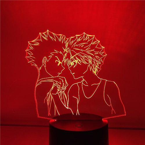 3D Lamp Hunter X Hunter Freecs And Killua LED Night Light Anime Figures Lampara HXH Bedroom Decoration Lighting Home Decor Lampe