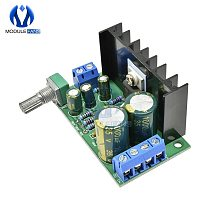 TDA2050 Audio USB Power Supply Potentiometer Amplifier Board 1 One Channel CH AC DC 12-24V 5W 120W Module