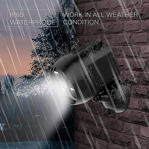 Motion Sensor Led Light Ip65 Waterproof Outdoor Lights Battery Operated Security Lights For Wall Garden Driveway Cold White N18