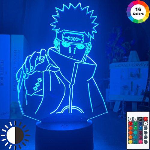 Pain Figure Light for Kids Christmas Nagato Night Lamp Led Color Flash Child Bedroom Nightlight Birthday Gift Table Lamps