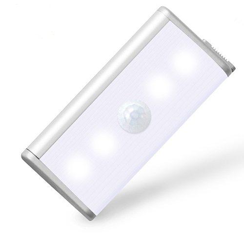 Rechargeable PIR Motion Sensor Wireless LED Night Light Lamp 4leds Closet Light For Hallway Pathway Magnetic Strip Wall Lighting