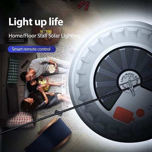 Solar LED Bulb Power Light Rechargeable Emergency Light Outdoor Camping Lamp Outdoor Camping Home Remote Control Portable Night