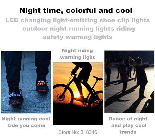 Night Flashing Shoe Clip Warning Running Waterproof USB Charging Hiking Outdoor Cycling Strobe Light Jogging Walking Led
