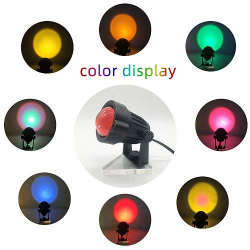 Sunset Lamp Projector Rainbow Atmosphere Led Night Light for Home Bedroom Background Wall Decoration USB Table Lamp Dropship