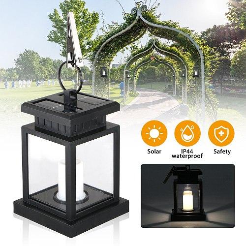 LED Solar Lamp Flickering Smokeless Flameless Candle IP44 Waterproof Flame Lamp Flickering Garden Light Hanging Solar Lantern
