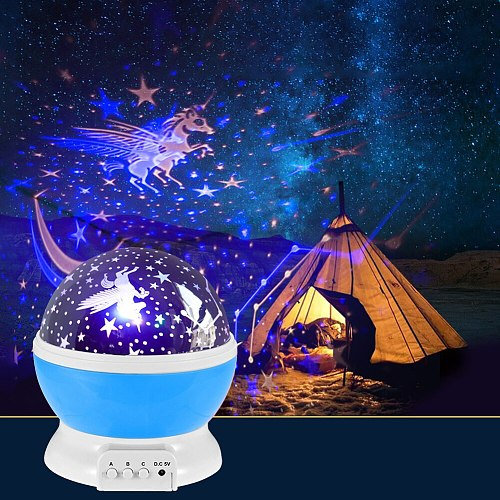 Projector Starry Sky Rotating LED Night Light Planetarium Children Bedroom Star Night Lights USB Moon Light Kids Gift Lamp