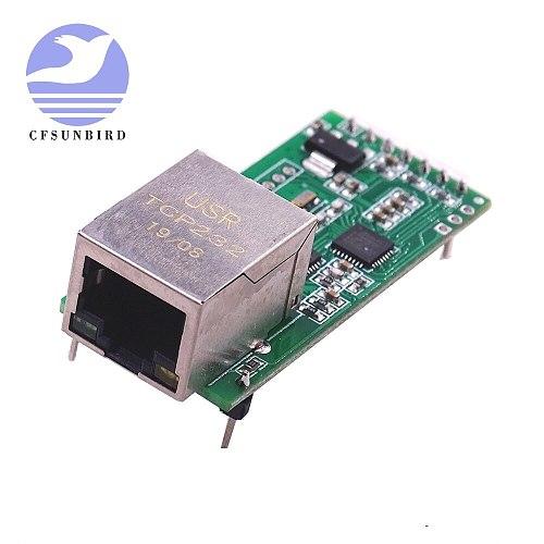 USR-TCP232-T2 RS232 Serial to Ethernet Module Tcp Ip UDP Network Converter Module TTL Lan Module with RJ45 Port