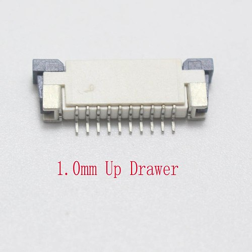 5pcs 0.5MM / 1.0mm 10P Clamshell Drawer Up Down FPC Connector socket for 10Pin Type A B FFC Cable