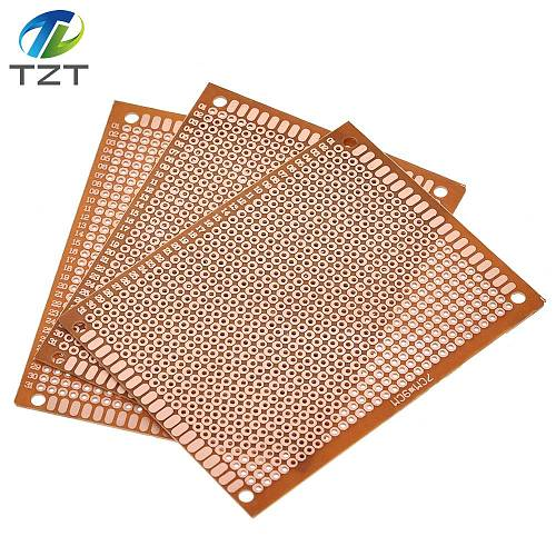 10PCS 7x9 7*9cm Single Side Prototype PCB Universal Board 7CMx9CM Experimental Bakelite Copper Plate Circuirt Board yellow