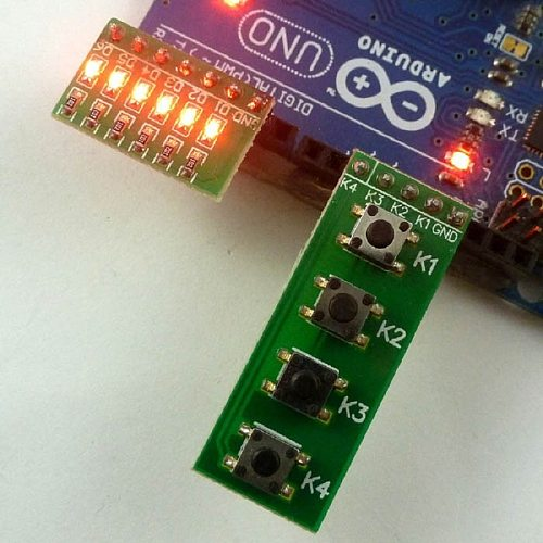 Key Button Board LED Module kit for Arduino UNO MEGA2560 Pro mini nano due Raspberry Pi Teensy++