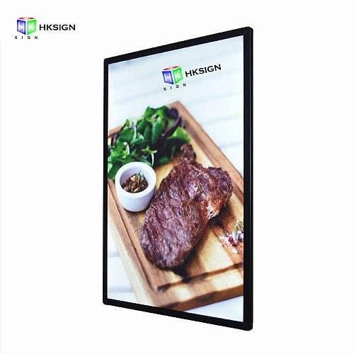 18X24 Photo Frame Wall Mount Led Poster Frame Advertising Aluminum Snap Clip Frame Light Box Sign Holder Display