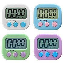 Electronic Stopwatch Cooking Screen Timer LCD Digital Display Magnetic Countdown Clock with Stand Kitchen Accessories