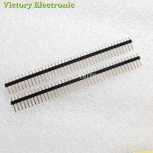 10PCS/Lot 40 Pin 1x40 Single Row Male 2.54 Breakable Pin Header Connector Strip Copper Length 11.2mm Wholesale