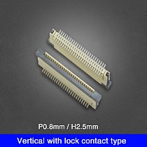 FFC FPC Socket 0.8mm H2.5mm Vertical Type With Lock Ribbon Flat Connector 6/8/9/10/12/14/16/18/20/22/23/24/26/30/36 Pin
