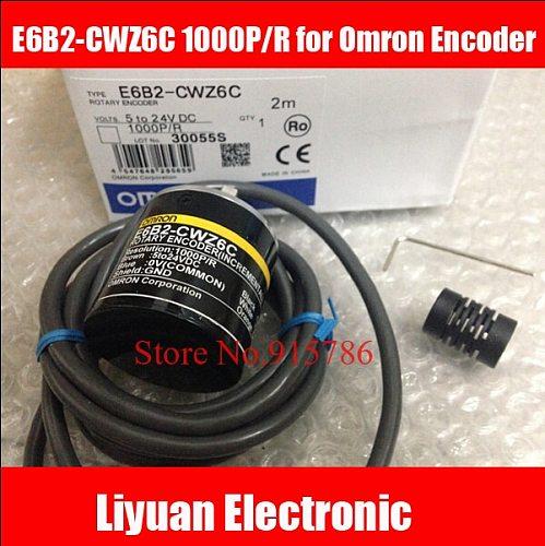 Free Shipping 1pcs E6B2-CWZ6C 1000P/R for Omron Encoder / ABZ output Rotary Encoder