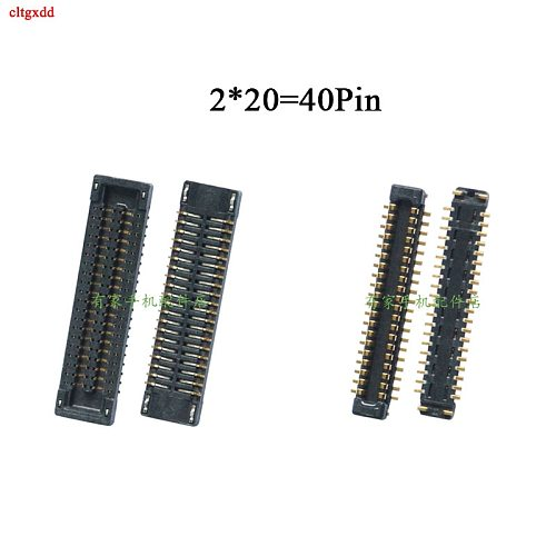 2pcs LCD display FPC Connector USB charging dock Port on mainboard/flex cable for Xiaomi Redmi 7 7A 30Pin 40Pin
