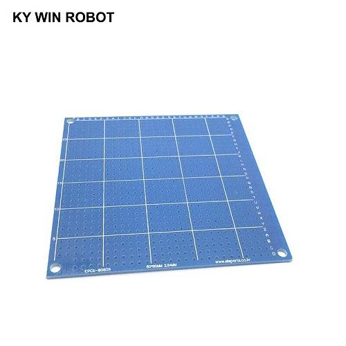 1pcs 8x8cm 80x80 mm Blue Single Side Prototype PCB Universal Printed Circuit Board Protoboard For Arduino