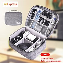 Travel Cable Bag Charger Wire Electronic Organizer Digital Earphone Gadget Pouch Cosmetic Kit Case Wardrobe Accessories Supplies