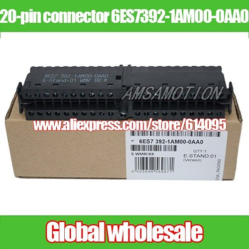 1pcs 20-pin front connector 6ES7392-1AM00-0AA0 / S7300PLC connector for Siemens Electronic Data Systems