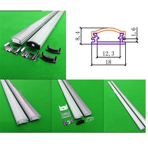 10x1m aluminum profile for led strip,milky/transparent cover for 12mm 5630 pcb with fittings ,ultra slim LED rigid bar housing