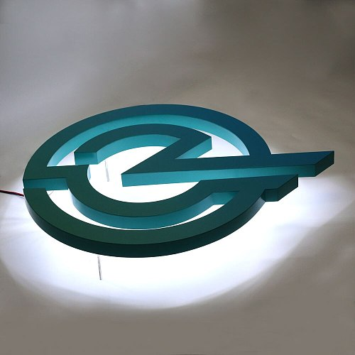 Handcraft Luminous Led Letter Stainless Steel Letter Built-up Back Light Wall-mounted 3D Signage Advertising Logo SignWaterproof