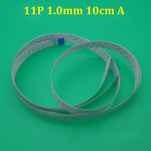 2-10PCS 11 pin pitch 1.0mm length 100mm A type The same direction/ FPC FFC flexible flat cable line AWM 20624 80C 60V