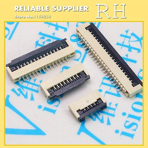 10PCS/lot  FPC connector  1mm Clamshell mode 6P/8P/10P/24P/26P/28P Cable seat