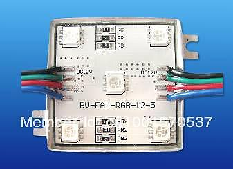 IP67, UL listed 5050 RGB  SMD LED Module  5 smd leds and  3 in 1 , 3 years guarantee  for led sign lighting  RGB color
