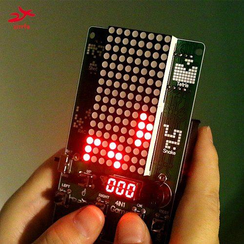 Electronic DIY Kit 8x16 Dot matrix game machine Diy Kit Electronic
