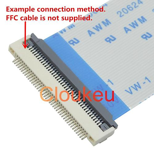 FPC FFC 0.5mm 1.0mm connector socket Clamshell type Bottom contact 32P 33P 34P 36P 40P 45P 50P 60P