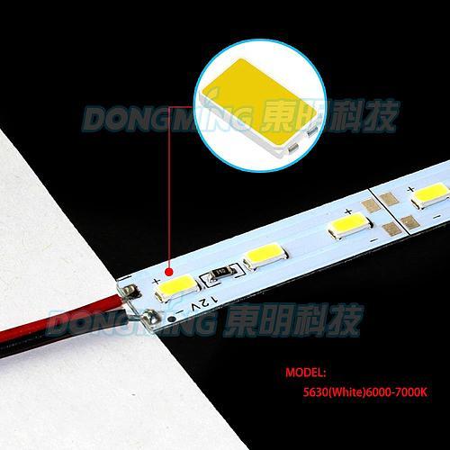 20PCS High power DC12V 16w 100CM 72 warm white/white rigid led bar strip 5630 SMD Aluminum PCB home shop decoration lighting