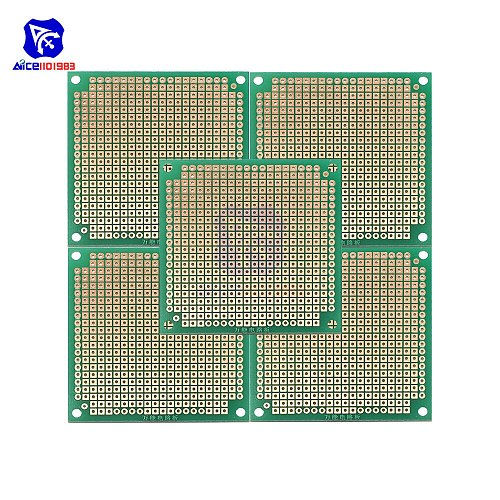 diymore 5PCS/Lot 6x6cm Single Sided Prototype Universal Printed Circuit Board DIY Soldering Green PCB Board for Arduino