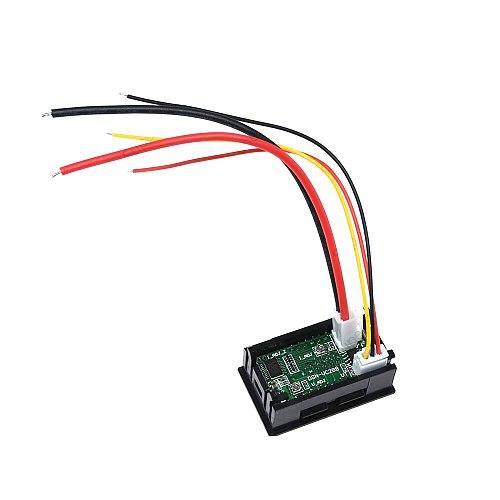 DC 100V 10A Mini Digital Voltmeter Ammeter Panel Amp Volt Voltage Current Meter Tester 0.56  Blue + Red Dual LED Display