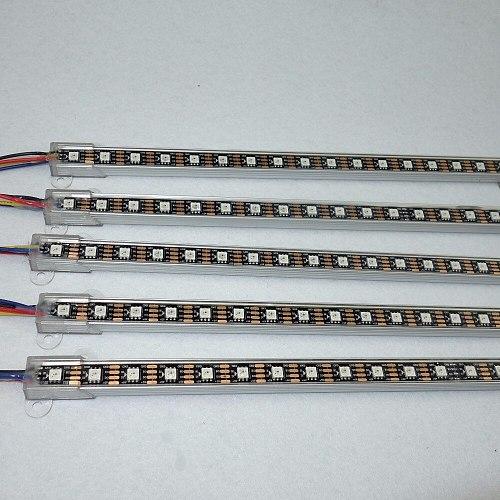 WS2813 addressavke 1M long DC5V 60LEDs led digital bar light;IP68 rated,U type alu shell;black pcb