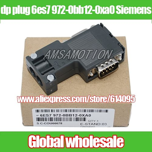 1pcs dp plug 6es7 972-0bb12-0xa0 for Siemens / profibus bus connector / 90 degrees programming port Electronic Data Systems