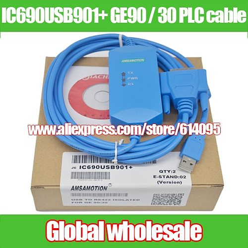 1pcs IC690USB901+ GE90 / 30 Series PLC programming cable / USB TO RS232 ISOLATED FOR GE 90/30 Electronic Data Systems