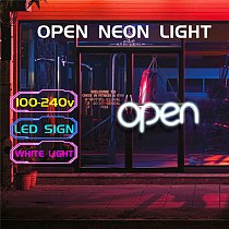Newest LED Neon OPEN Sign Light for Business Bar Club KTV Wall Decoration Commercial Lighting