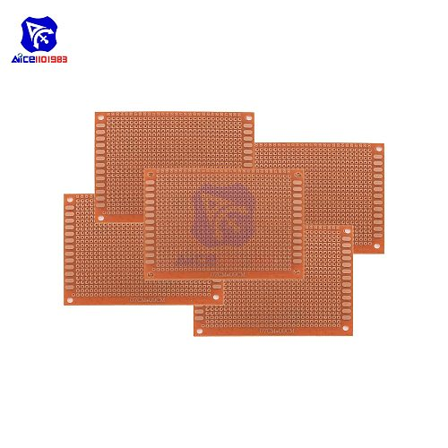 diymore 5PCS/Lot Universal PCB Board 90x70 mm 2.54mm Hole Pitch Prototype Paper Printed Circuit Panel 9x7 cm Single Sided Board