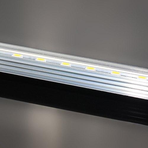 transparent U groove Aluminium Profile SMD 4014 LED hard rigid Strip 50cm 72leds double row 12V led bar light with/warm white