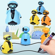 Track Induction Robot Follow Draw Line Magical Pen Toy Inductive Robot Model Children Gifts Truck Map Electronic Excavator Tract