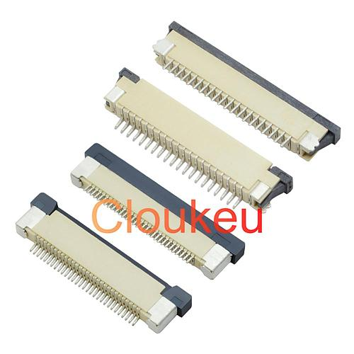 FPC FFC 0.5/1.0mm connector socket 4P 5P 6P 7P 8P 10P 12P 14P 16P 18P 20P 22P 24P 26P 28P 30P Drawer type Upper contact