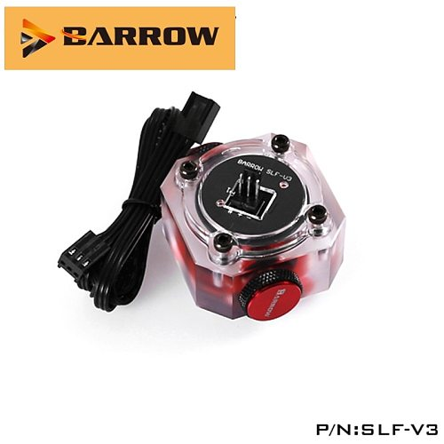 Barrow  Flow Meter SLF-V3,Water Cooling System Electronic Data flow Sensor Indicator,Able To Access The Motherboard To Read Data