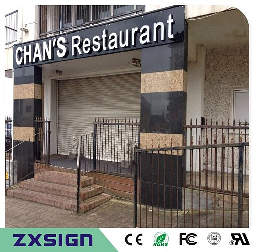 Factory Outlet Outdoor Super High brightness Acrylic led letter signs for  Restaurant, coffee shop, salon business store name