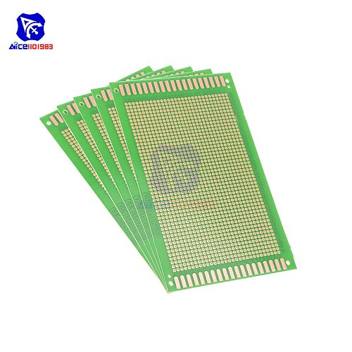 diymore 1 Piece 9x15cm Single Sided Prototype Universal Printed Circuit Board DIY Soldering Green PCB Board for Arduino