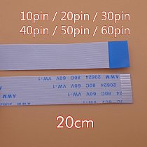 2pcs FFC/FPC Flat Flex Cable 10 / 20 / 30 / 40 / 50 / 60 Pin Type A/B 0.5mm Pitch AWM VW-1 20624 80C 60V Length 20 cm 20cm 200mm